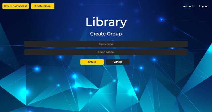 React Component Library CMS Create Group