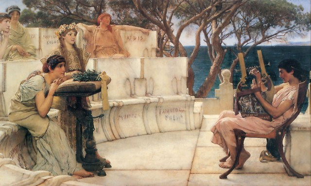 Sappho and Alcaeus by Sir Lawrence Alma-Tadema (1881)