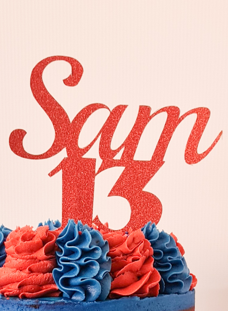 Red Cake Topper
