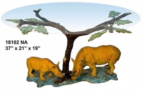 Bronze Rhinoceros Table