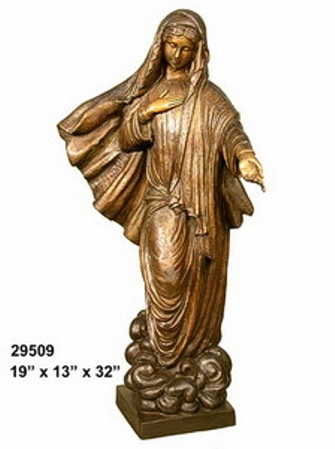 Bronze Virgin Mary Statue
