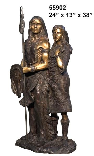 Bronze Native American Indian Statues