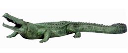 Bronze Crocodile Fountain