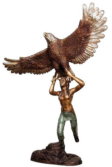 Bronze Indian Eagle Statue