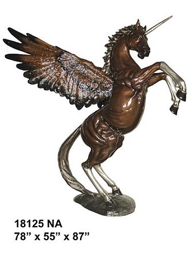 bronze unicorn statues
