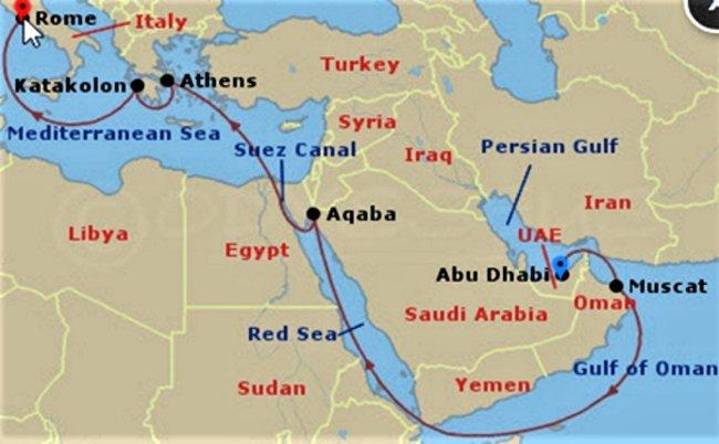 搭郵輪穿越蘇伊士運河與紅海 亞洲往返歐洲的航線選擇