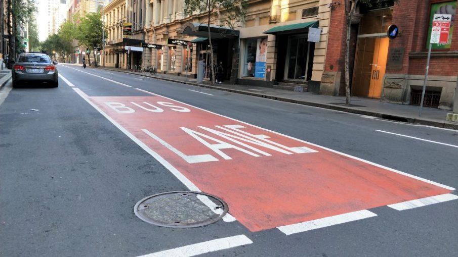 雪梨一日遊 - 市區內公車專用道