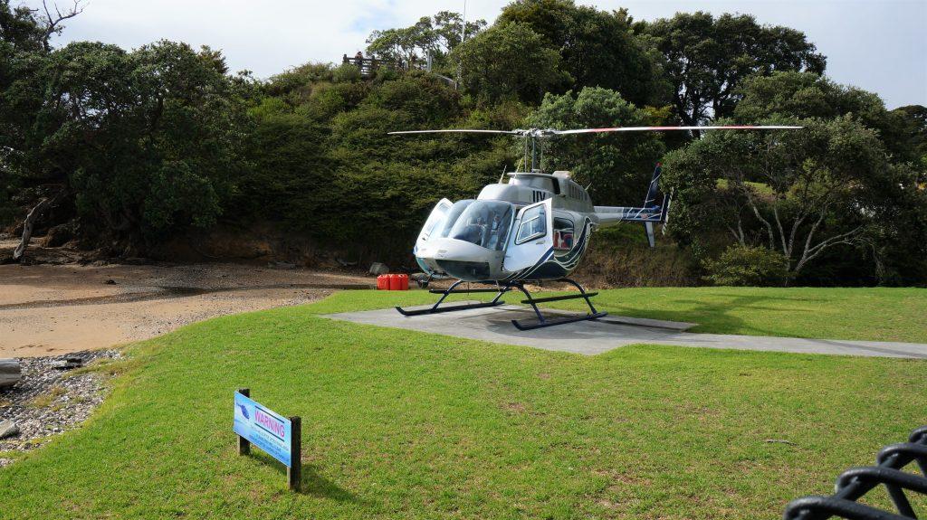 岛屿湾岸上自由行 - 载客游览的直升机
