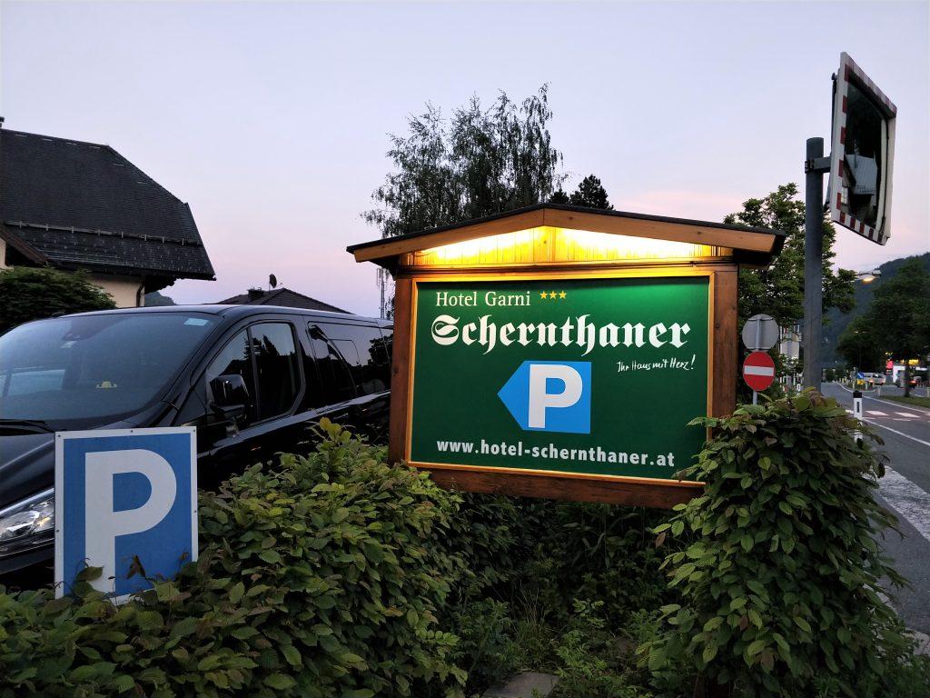 飯店提供的免費停車場