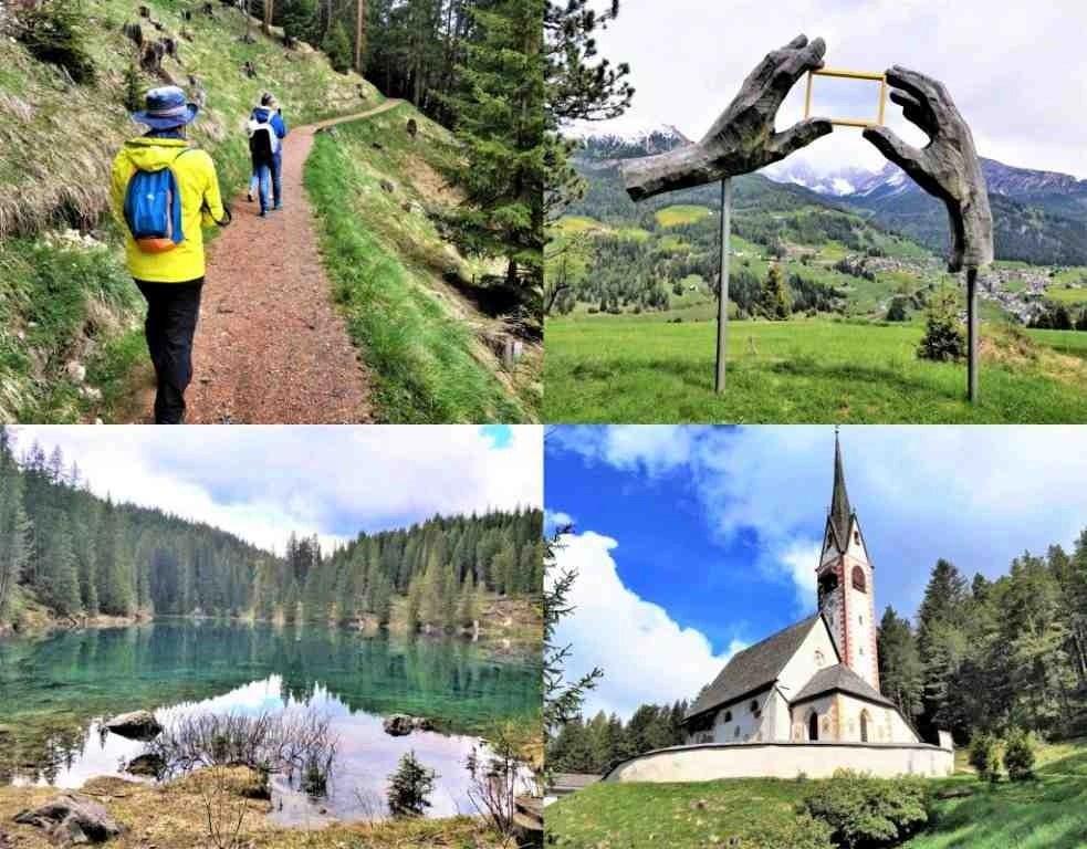 Cristauta – Praplan 步道、義大利多洛米堤、Lago di Carezza 高山湖泊、San Giacomo 教堂