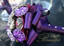 Small Brooch Bouquets 4 – 6 inches in diameter. Perfect for a bridesmaid or an understated bride. Prices from $150