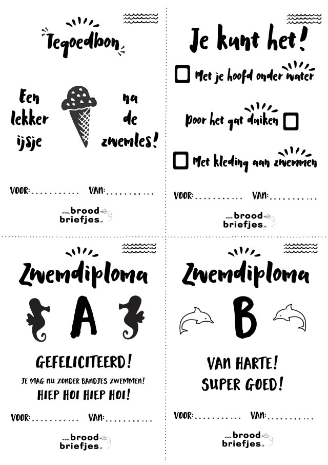 BroodBriefjes-zwemles-special