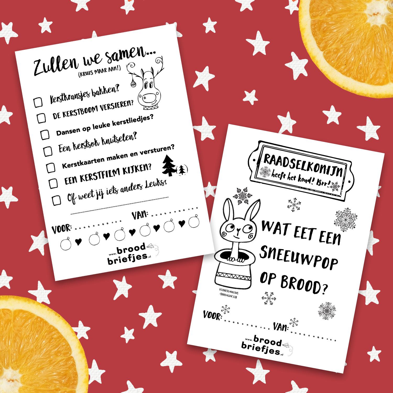 10 Verschillende Winter Briefjes (incl. Kerst)