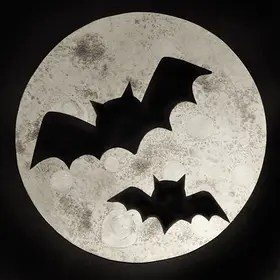 moon paintings halloween painting bats spooky fall projects crafts activities spiders chauve souris watercolor basteln project recipe texture silhouettes themes