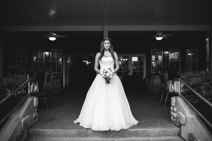 black and white bride pose