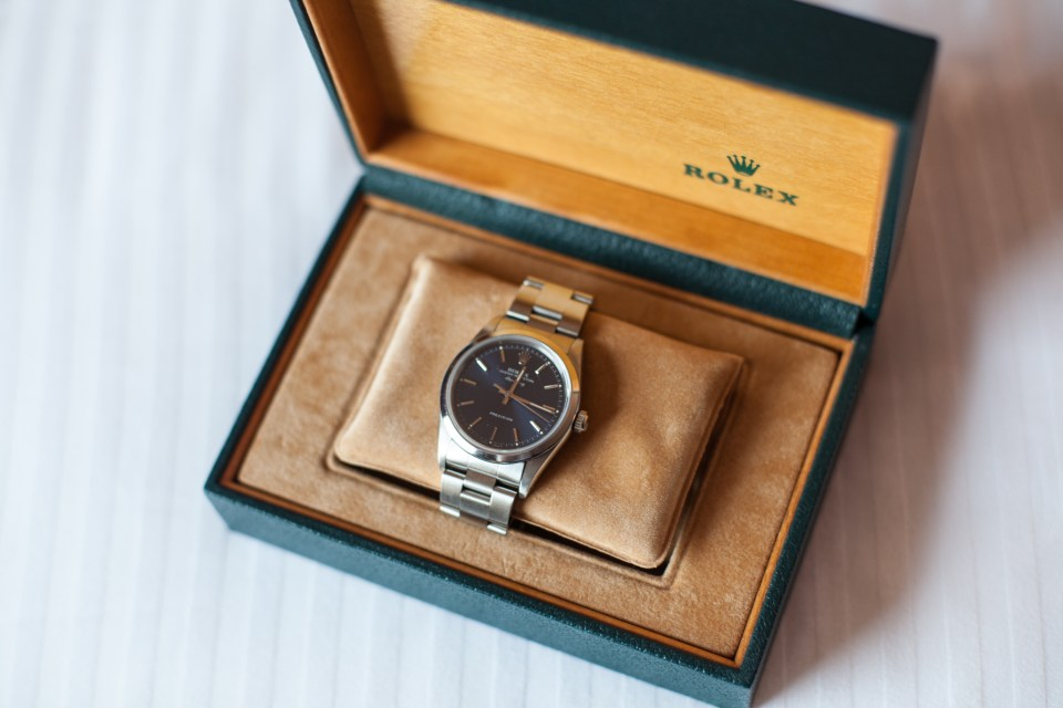 rolex watch as grooms gift on wedding day