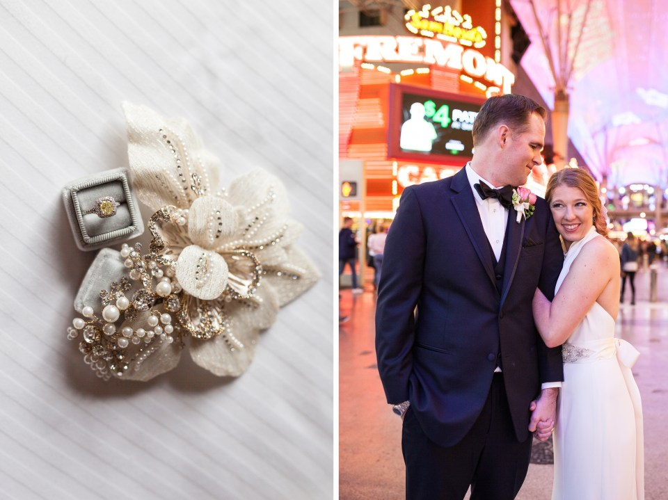 Fremont Street Vegas Wedding Photos