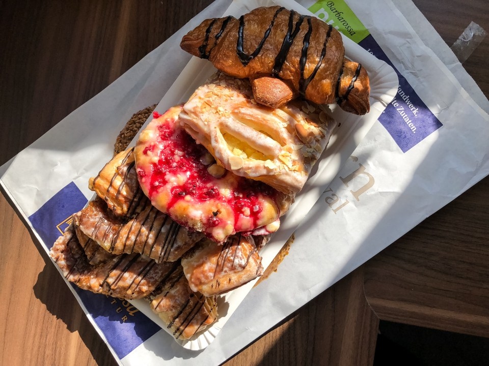 delicious german pastries for breakfast