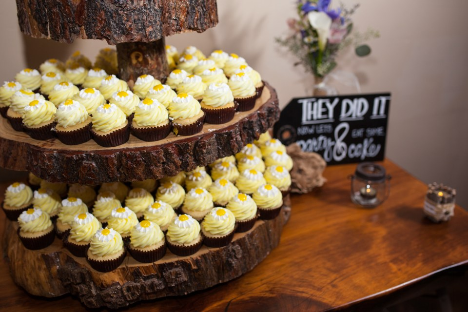 yellow cupcakes for wedding dessert