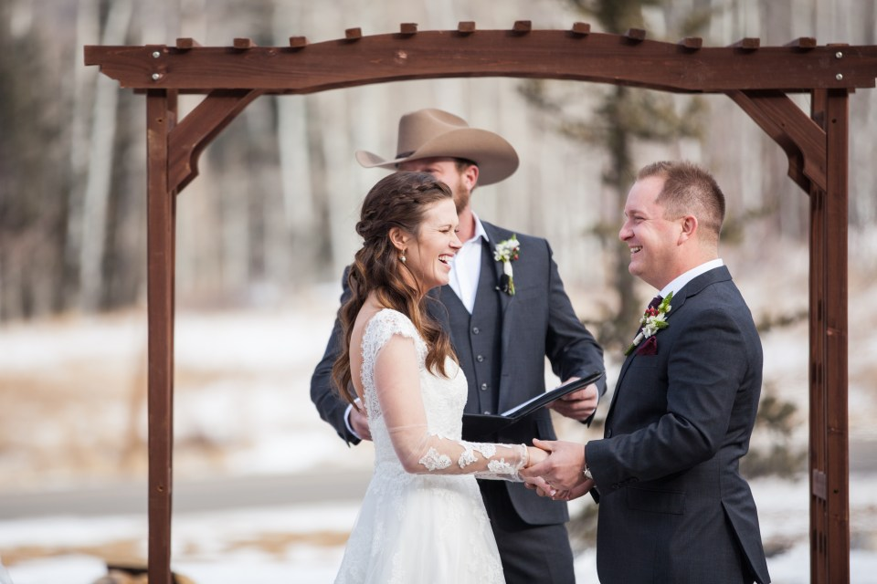 Durango, Colorado Winter Wedding Ceremony