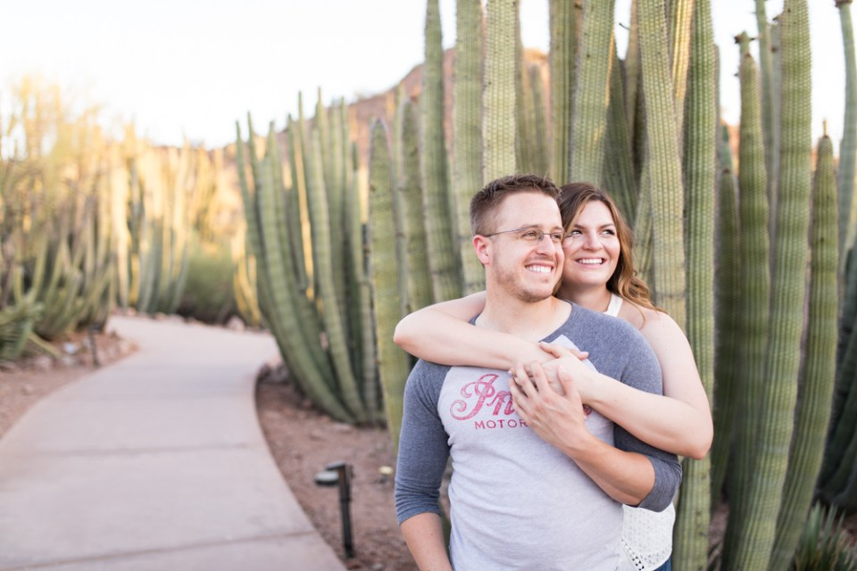 Phoenix Desert Engagement Photography Desert Botanical Gardens
