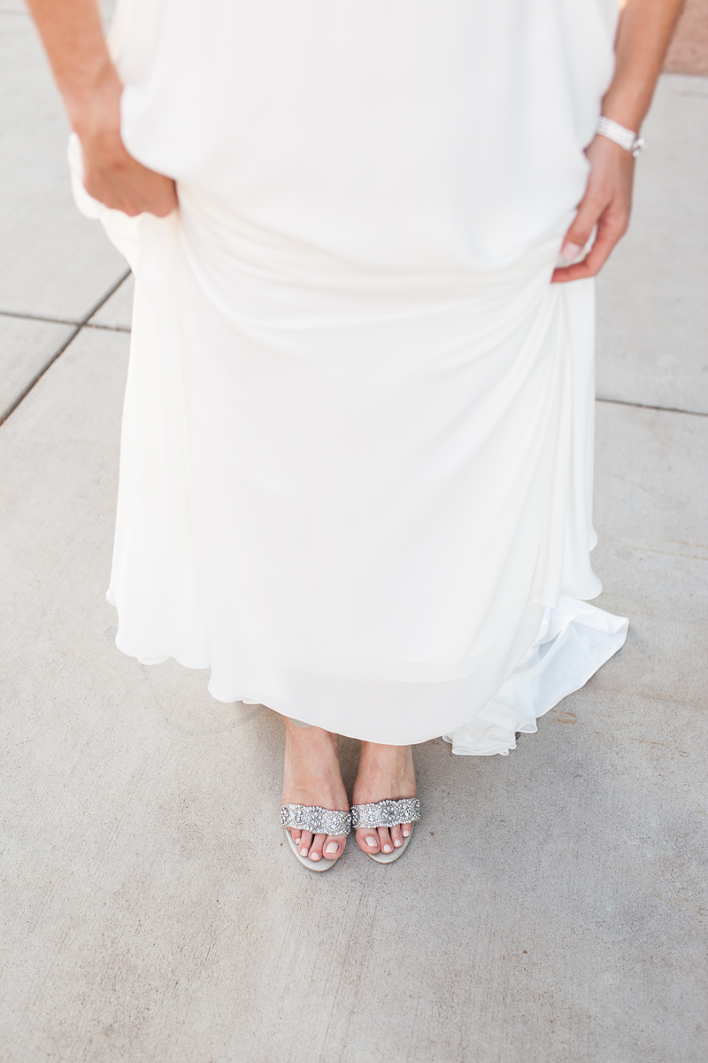 bride with betsy johnson bridal shoes