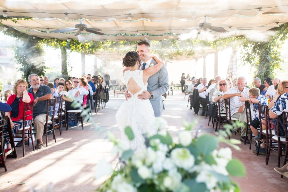 Temecula Winery Wedding bride and groom first dance
