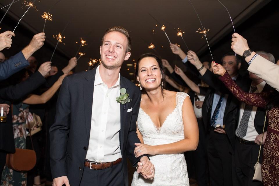troon north wedding sparkler exit