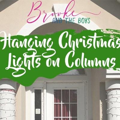 Hang lights on pillars