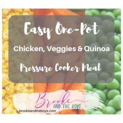 Easy One-Pot Chicken & Veggies with Quinoa (Pressure Cooker)