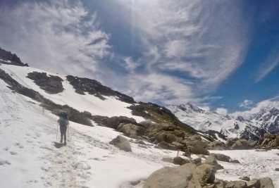 Snow tramping to Mueller Hut