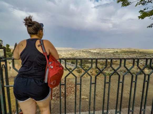 Katy looking out over Fes