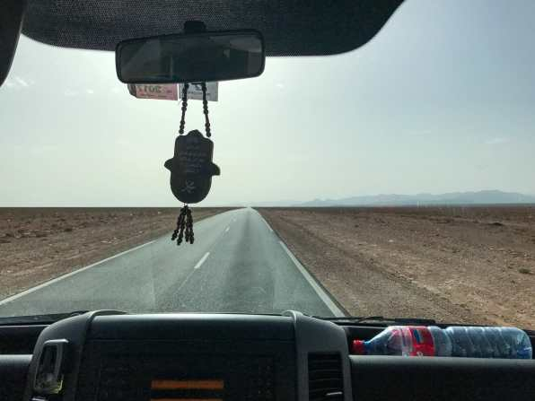 Cruising through a stretch of nothingness