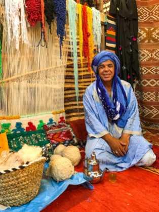 The rug shop owner drove a tough bargain