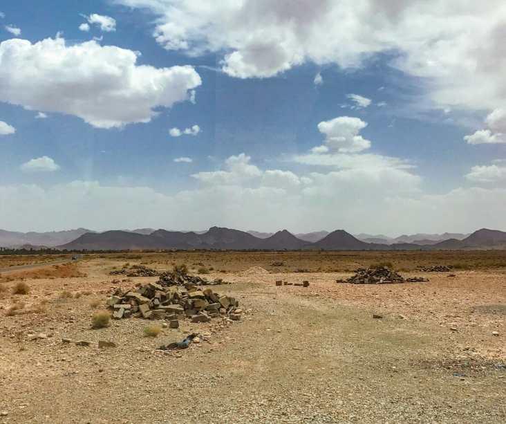 Leaving the desert landscape behind