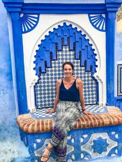 Impossibly beautiful fountain in Chefchaouen