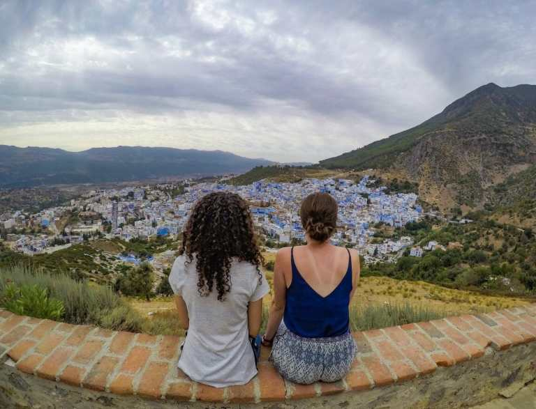 Me and Hind overlooking the city