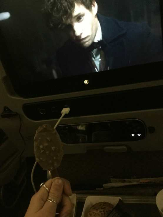 ice cream on a plane?!