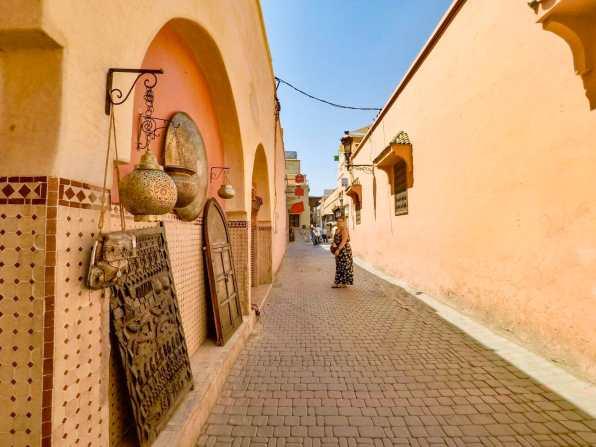 Navigating through the Medina streets