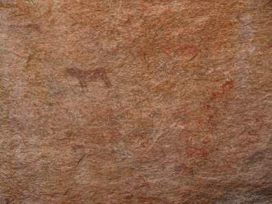 Bushman painting of a leopard