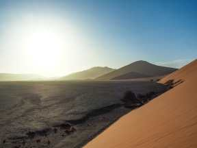 A beautiful sunrise over the dunes