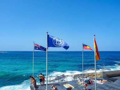 The beautiful Bondi Icebergs patio