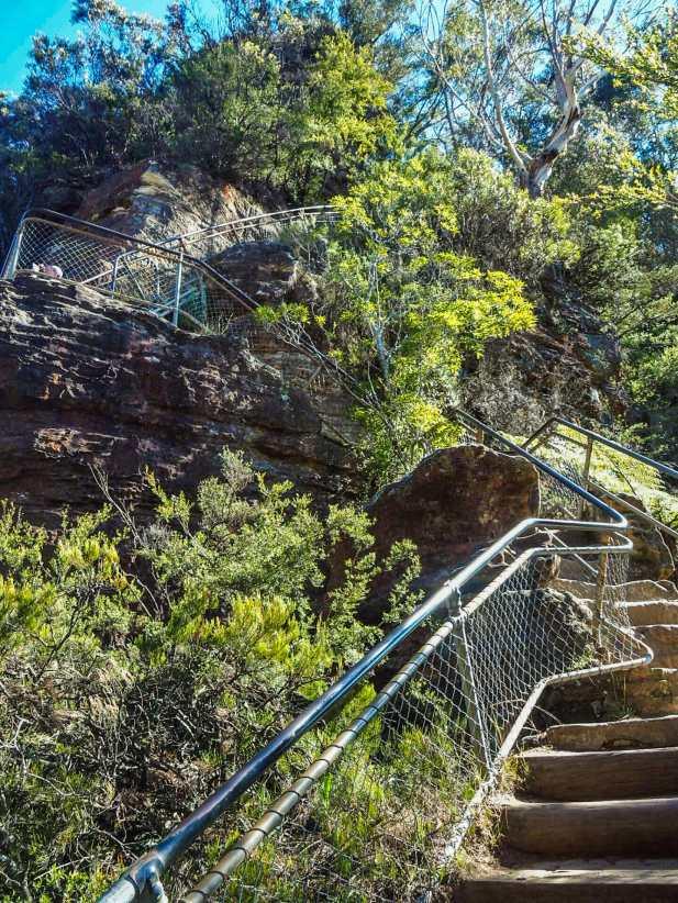 The descent to Honeymoon Bridge