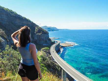 Looking out over Sea Cliff Bridge