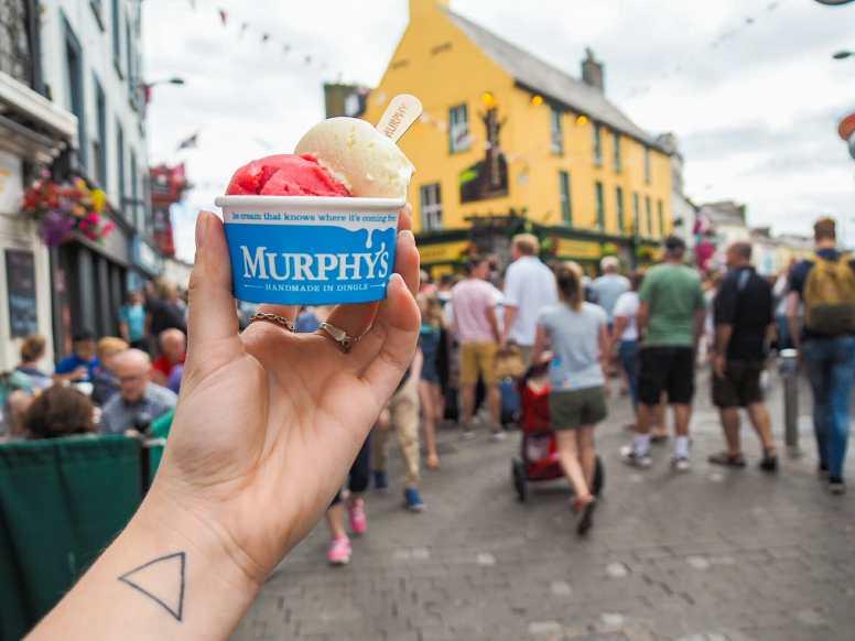Enjoying my Dingle Gin ice cream from Murphy's
