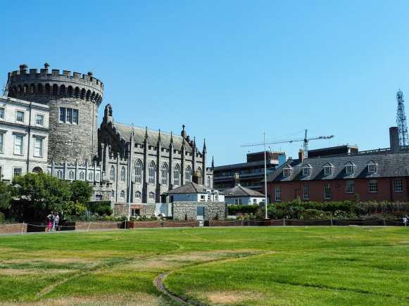 Dubh Linn Gardens behind Dublin Castle's Chapel Royal