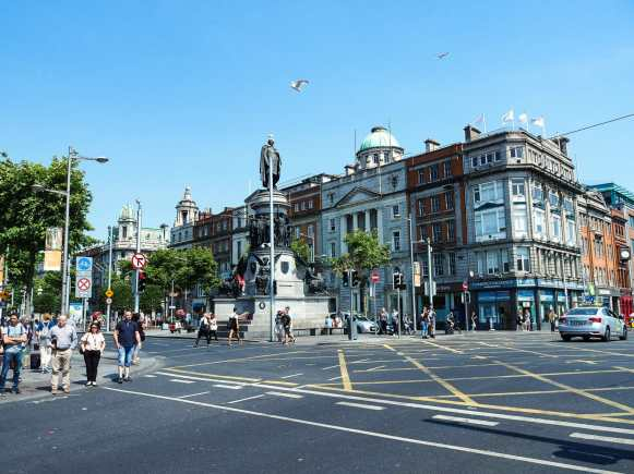 O'Connell Street abuzz with people