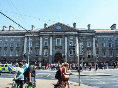 The entrance to Trinity College
