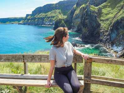 Overlooking the beautiful Irish coast