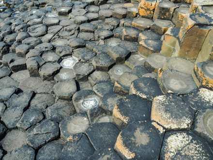 Thousands and thousands of hexagonal basalt columns